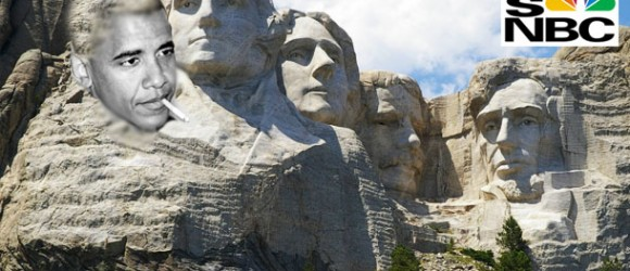 MSNBC Becomes 'Obama Network': Sharpton Wants Obama's Face on Mount Rushmore