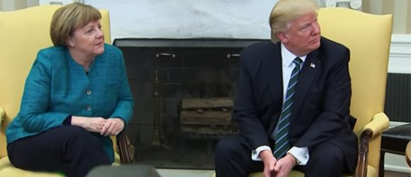 Trump's Awkward First Date with Frau Merkel