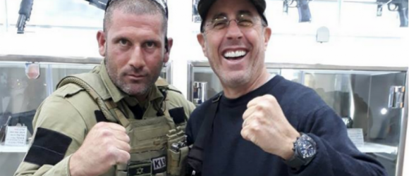 NOTHING FUNNY: Disgusting Pictures of Comedian Jerry Seinfeld at 'Anti-Terror Fantasy Camp' in Occupied West Bank