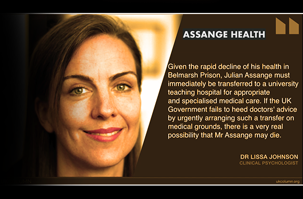 INTERVIEW: Dr Lissa Johnson on Perilous of Health of Julian Assange
